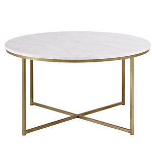 Trendy Modern Marble and Gold Coffee Table for Sale in Denver, CO