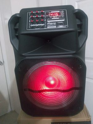 RIDGEWAY/ PORTABLE SPEAKER. BLUETOOTH / FMRadio / KARAOKE/ TFCARD / 15 INCH CONTROL REMOTE 🎤 MICROPHONE (3000W) BATTERY RECHARGEABLE / each. for Sale in Moreno Valley, CA