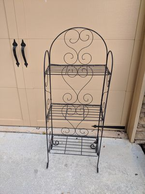 Four foot tall metal folding plant stand for Sale in Cumming, GA