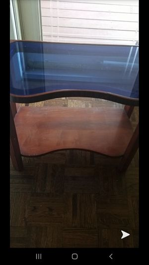 Antique blue glass table for Sale in Toms River, NJ