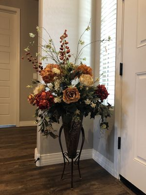 Huge Floor Floral Arrangement Tall Silk Flower Home Decor Decoration w/Metal Vase for Sale in Litchfield Park, AZ