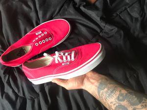 Low top red Vans. Size 9 for Sale in Fieldsboro, NJ