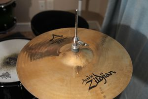 Used Zildjian 14in A Custom Mastersound Hi Hat Pair Cymbal for Sale in Houston, TX