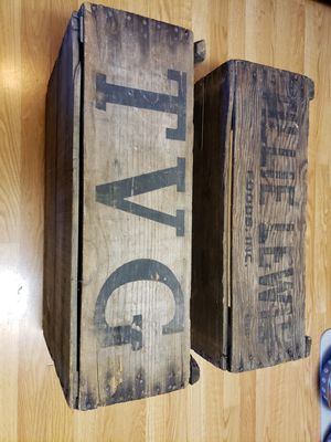 Vintage produce crate boxes for Sale in Fresno, CA