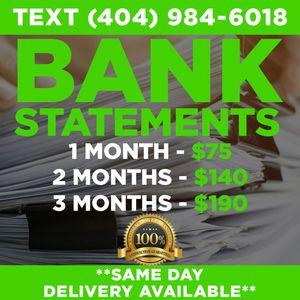 Bank Statements for Sale in Atlanta, GA