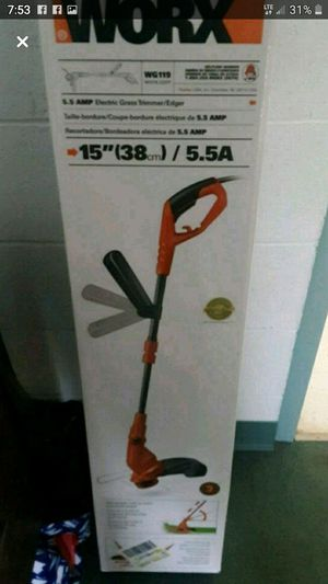 Worx 5.5 amp electric grass trimmer for Sale in Marietta, OH