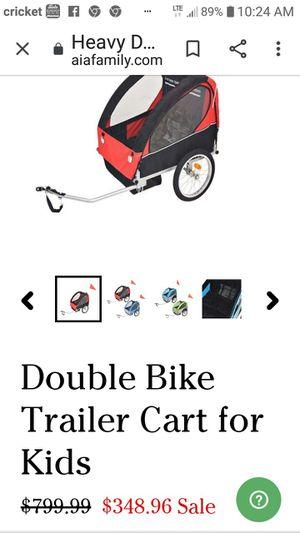 Double Bike Trailer Cart For Kids for Sale in Wichita, KS