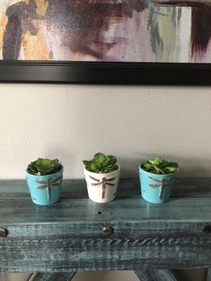 set of 3 artificial succulent new for Sale in Orlando, FL