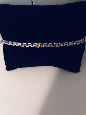 Silver and gold stainless steel unisex bracelet for Sale in Orlando, FL