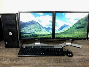 8GB RAM Wi-Fi Win10 Dual Monitor Free Delivery Dell Computer Desktop for Sale in Orlando, FL