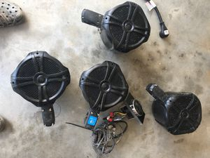 Marine boat tower speakers, radio, and amp for Sale in Knightdale, NC