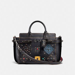 Coach Double Swagger With Patchwork Prairie Rivets for Sale in Buena Park, CA