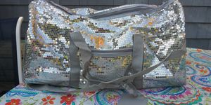 Bling silver duffle bag tote for Sale in Warwick, RI
