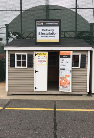 Sheds USA 8x12 Vinyl Classic Shed Display is now on sale at the Home Depot store in Freeport NY for Sale in Freeport, NY