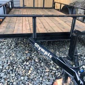 Heavy Duty Utility Trailer 6x10 Side by Side Trailer for Sale in Ridgefield, WA