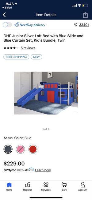 DHP boys loft bed with blue slide for Sale in Tamarac, FL
