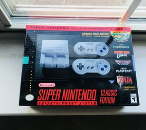 Brand New in box - Nintendo SNES (Super Nintendo) + Warranty + Receipt for Sale in Canton, MI
