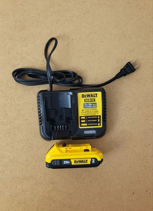 New Charger Dewalt and Battery 2.0AH FIRM PRICE for Sale in Woodbridge, VA