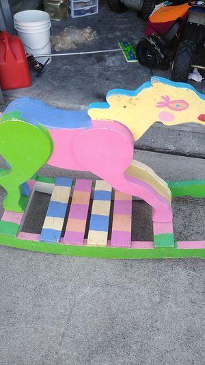 Solid wood rocking horse for Sale in Sarasota, FL