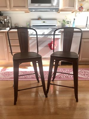 Two Copper Counter-height Chairs / Stools for Sale in San Francisco, CA
