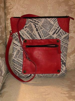 MAURIZIO TAIUTI genuine leather news print messenger crossbody bag made in Italy for Sale in Hillsboro, OR