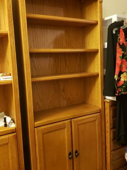 Oak Bookshelves/Cabinets X 2 for Sale in Tustin,  CA