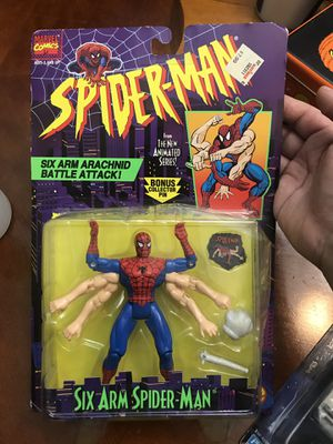 spider man the new animated series bonus pin six arm spiderman for Sale in East Los Angeles, CA