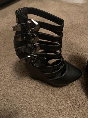Black gladiator heels for Sale in Doraville, GA