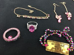Jewelry lot Pink theme for Sale in Philadelphia, PA