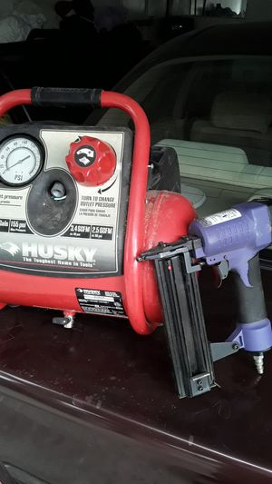 Husky compressor and air brand nailer for Sale in Stockton, CA