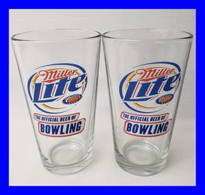 "Set of Two Vintage Miller Lite Pint Glasses ""Official Beer of Bowling"" for Sale in Mount Sterling, KY"