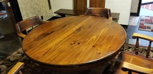 Solid Wood Antique Table ..4 chairs and bench for Sale in Columbus, OH