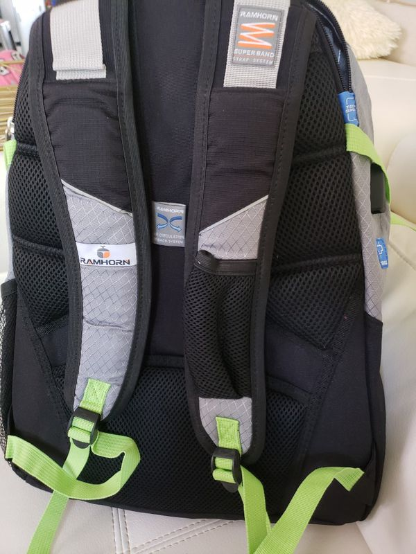 RAMHORN Laptop Backpack (Gray & Green