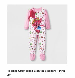 Toddler girls Trolls pajama size 4T & 5T for Sale in Fontana, CA