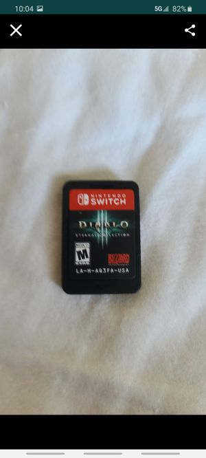 Nintendo Switch!Diablo 3! Used! Pick up only! for Sale in Grand Terrace, CA