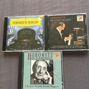 Classical Music Piano Legend Vladimir Horowitz, his most classic 3 CDs. for Sale in Lansdale, PA