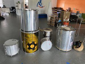 Brazilian Samba Instruments: 3 Surdos, 1 Caixa, 1 Repinique for Sale in CT, US