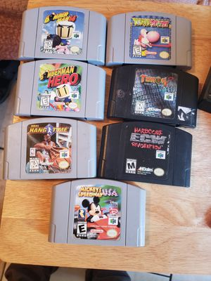7 Nintendo 64 games good titles for Sale in San Jose, CA