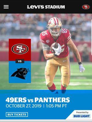 San Francisco 49ers vs Carolina Panthers for Sale in Stockton, CA