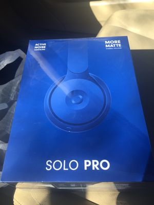 Beats Solo Pro/Pharrell Williams Blue w/ active noise cancellation *New in Box* (latest model available) for Sale in Annapolis, MD