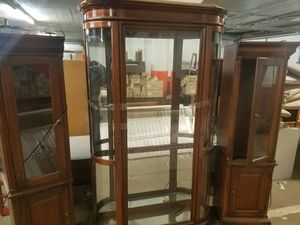 Cherry Wood Glass China Cabinets for Sale in Kansas City, MO