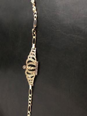 18k gold plated bracelet 🇮🇹 / oro laminado italiano puede mojarse no cambia de color es de San Judas for Sale in Perris, CA