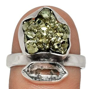 Peruvian Golden Pyrite 925 Ring Size 9 for Sale in San Francisco, CA