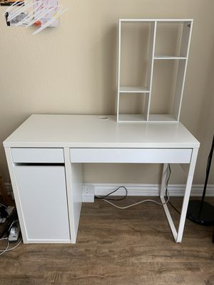 ikea desk WITH additional shelf for Sale in La Jolla, CA