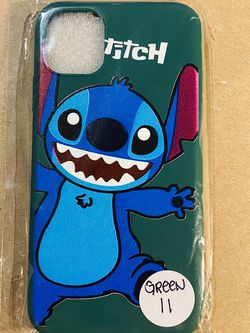 Brand new cool iphone 11 REGULAR 6.1 case cover rubber silicone GREEN Lilo And Stitch Hawaiian Disneyland disney love fundas girls womens pretty for Sale in Loma Linda,  CA