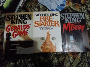 Stephen king hard back books for Sale in North Richland Hills, TX