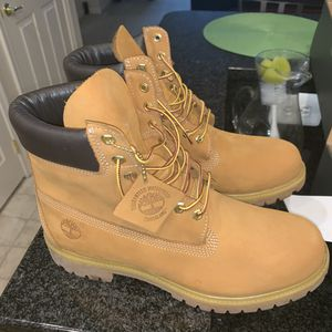 "Timberland Premium 6 IN Waterproof Boot - Wheat Nubuck ""buttas"" Size 11 Men for Sale in Washington, DC"