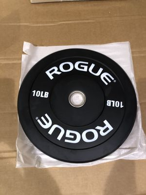 Rogue Echo Bumper Plates Weights 10LB (20LB total) Black. Brand new for Sale in Newton, MA