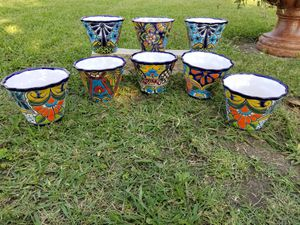 Talavera Small Clay Pots (Planters) for Sale in Wylie, TX