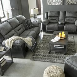🌩️Instock ☑️Earhart Slate Reclining Living Room Set byAshley ♦️New Brand for Sale in Silver Spring,  MD